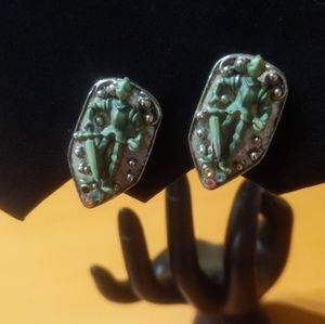 Vintage Knight Earrings